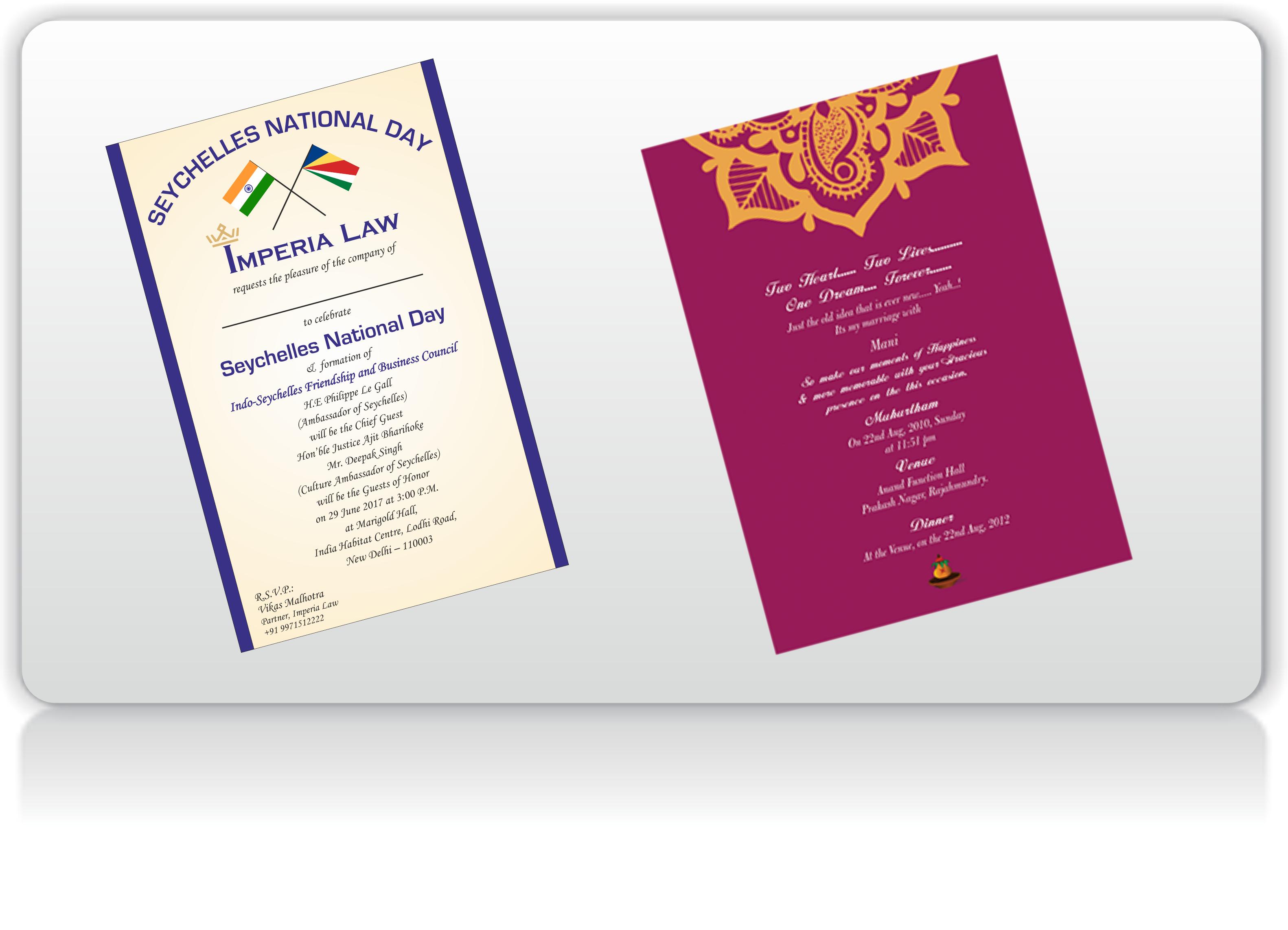 Greeting And Invitation Card Printing Printbaazaar Printing Company
