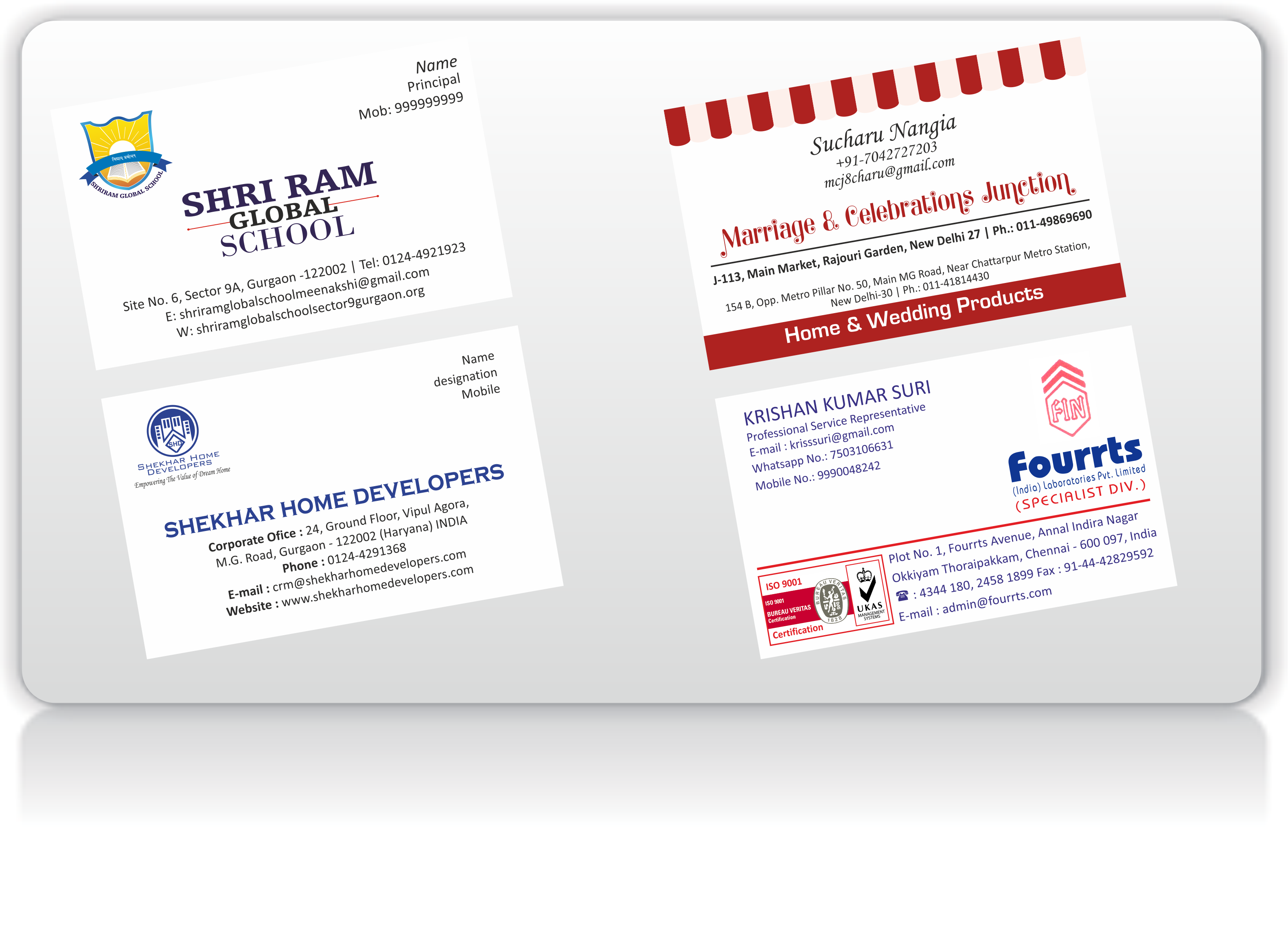 Business card printing printbaazaar printing company v card 4 reheart Images